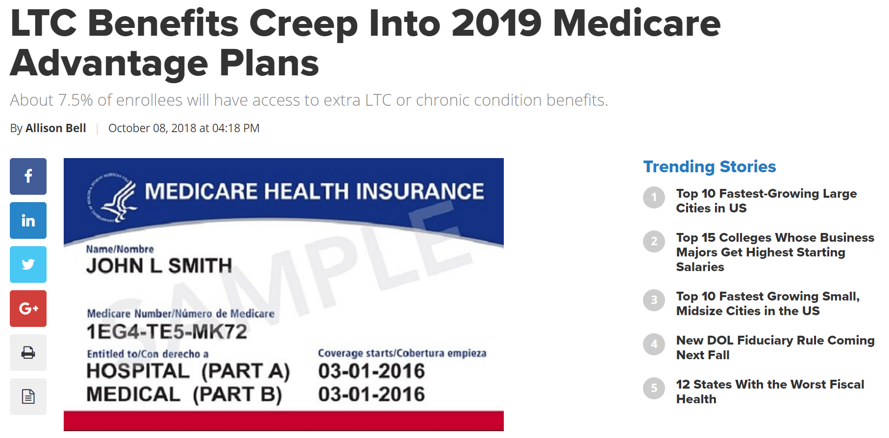 Long-Term Care Fake News